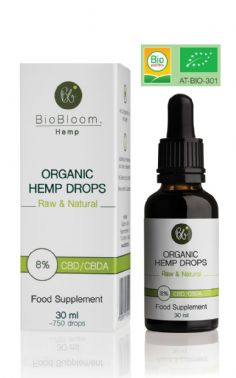 BioBloom Organic Hemp Drops 8% 30ml